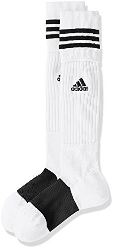 (アディダス)adidas サッカーウェア 3ストライプ ゲームソックス MKJ69 [ユニセックス] BS2740 ホワイト/ブラック 22-24cm