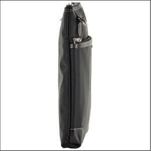 BLAZER CLUB 高密度ナイロン製 薄マチタイプ縦型ショルダーバッグ B5 24cm #33639-01(クロ)