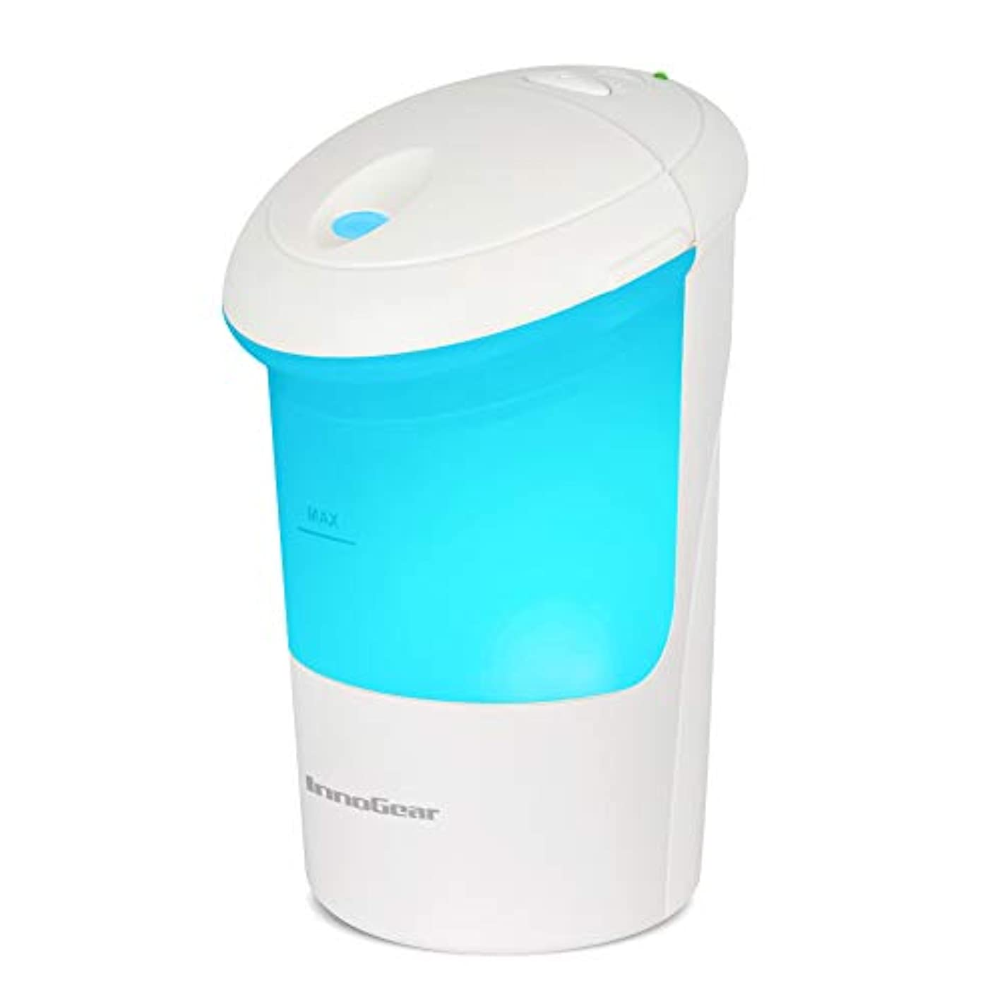 意志ジレンマ餌(White) - InnoGear USB Car Essential Oil Diffuser Air Refresher Ultrasonic Aromatherapy Diffusers with 7 Colourful LED lights for Office Travel Home Vehicle
