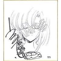 ラングリッサーI&II キャラアニ特典 うるし原智志 イラスト入りサイン色紙 (複製ミニ色紙) リアナver PS4Switch