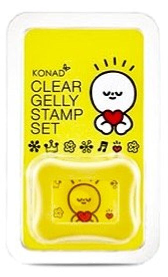 破産ヒップ宇宙のKONAD 専用 スタンプネイル ゼリー クリアスタンプ&スクレーパー / Clear Stamp&Scraper