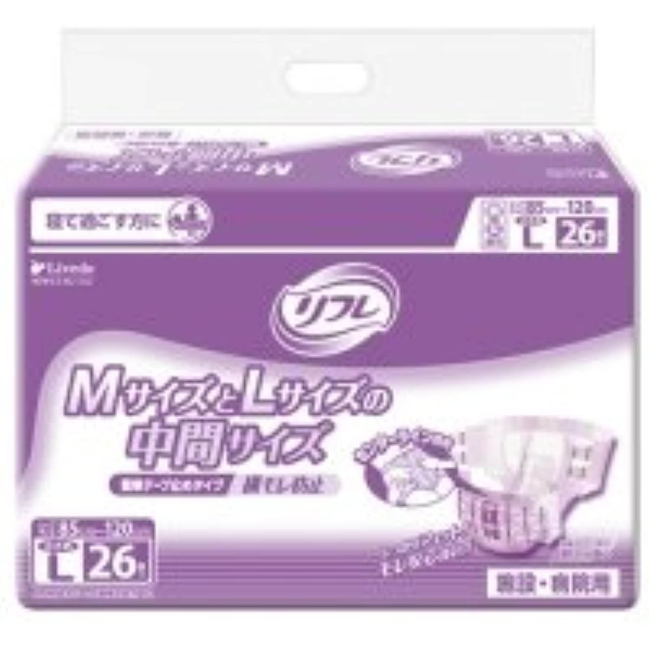 有名なシフト禁止リブドゥコーポレーション リフレ 簡単テープ止めタイプ 横モレ防止 小さめL 1パック(26枚)