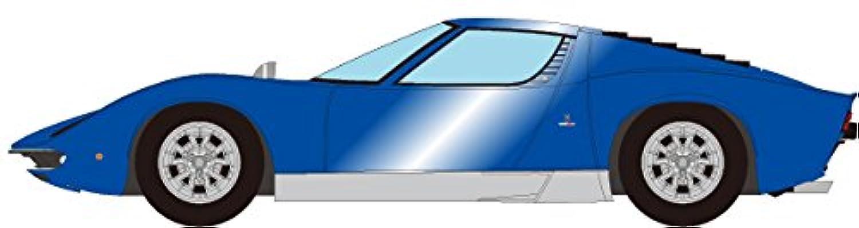 メイクアップ EIDOLON 1/43 ランボルギーニ ミウラ P400 SV 1971 メタリックブルー/シルバー 完成品
