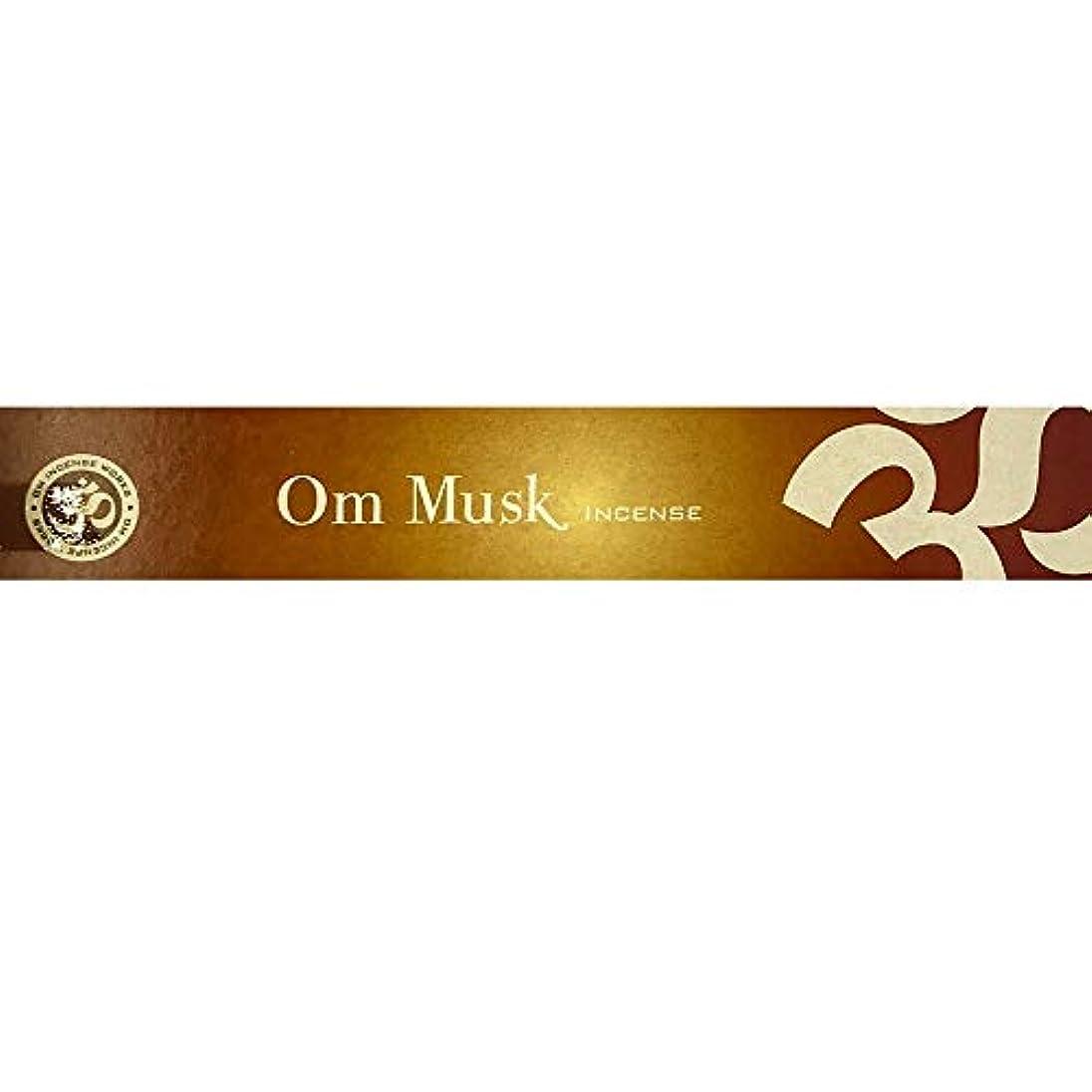 代数的ジャズ奨学金Mary's Naturals Shop Om Musk お香スティック 15グラムボックス