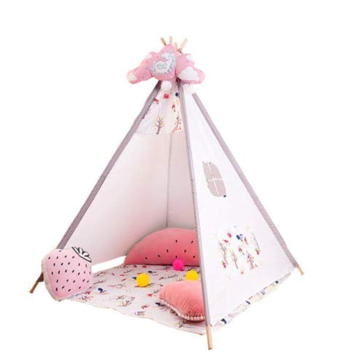 セクション圧倒的矩形Feelyer 屋内子供のテントガールプレイハウスのおもちゃの家家族のテント安全で環境に優しい換気構造安定 顧客に愛されて