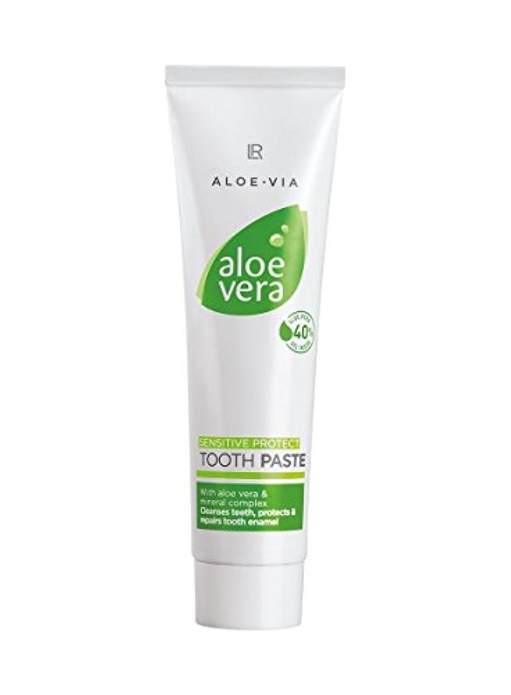 L R アロエベラトゥースジェルセンシティブ歯磨き100mLの活性歯科用洗浄は、歯のエナメル質の保護は、特別に敏感な歯のために処方さ