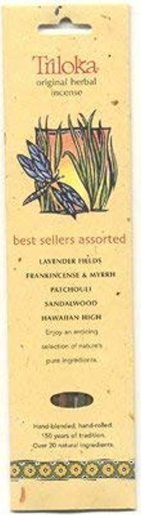 道に迷いましたでも葉巻Triloka Assorted Best Sellers Stick Incense – 10 Sticks