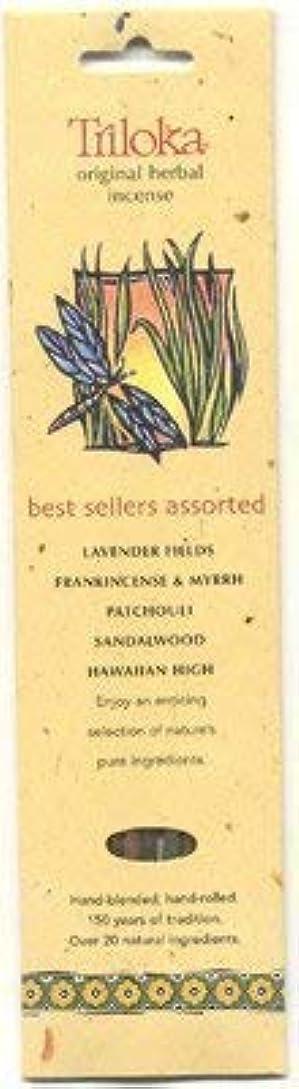 安全リングレットアンプTriloka Assorted Best Sellers Stick Incense – 10 Sticks