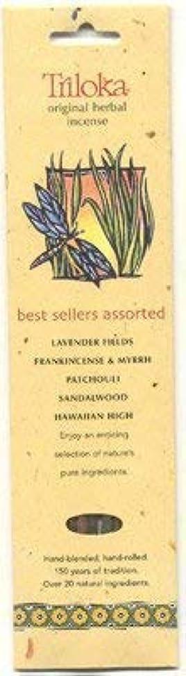 書くタイル効率Triloka Assorted Best Sellers Stick Incense – 10 Sticks