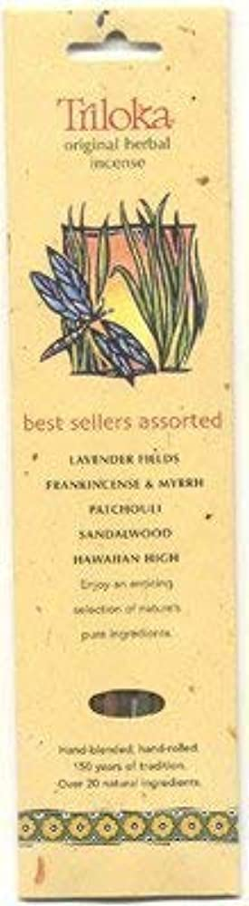 ブルジョン空いているピニオンTriloka Assorted Best Sellers Stick Incense – 10 Sticks