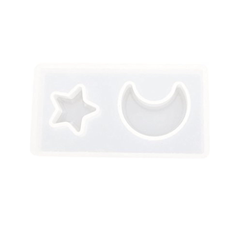 Perfk 半透明 シリコン金型 月星型 家庭 パーティー用 チョコレート作り 石鹸作り 高品質素材 清潔簡単