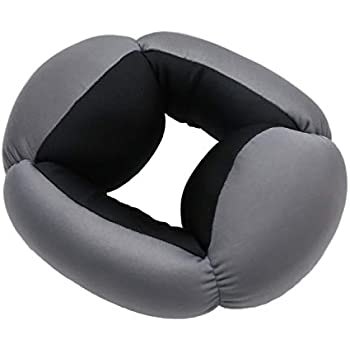 ロジック オムニピロー 全方位型まくら [旅行・出張・安眠グッズ] ふわふわ もちもち ネックピロー (全2色) グレー×ブラック