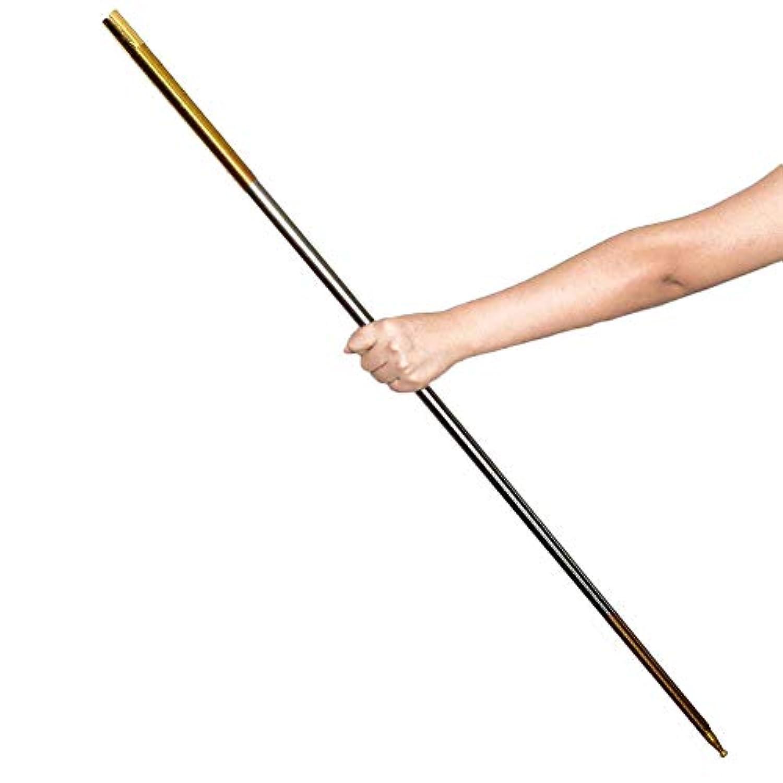 ruixuered-トリッキーノベルティ1.5mの出現杖スティックステージ閉じる幻想の絹の魔法のトリックギミック - ゴールデン+シルバー