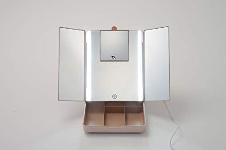 炭水化物硫黄テスピアン真実の鏡Luxe Makeup-Box EC018LXUSB-7X(CP)