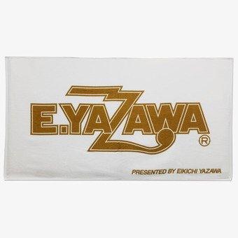 矢沢永吉 E.YAZAWA SBT スペシャルビーチタオル ロゴ ホワイト ゴールド