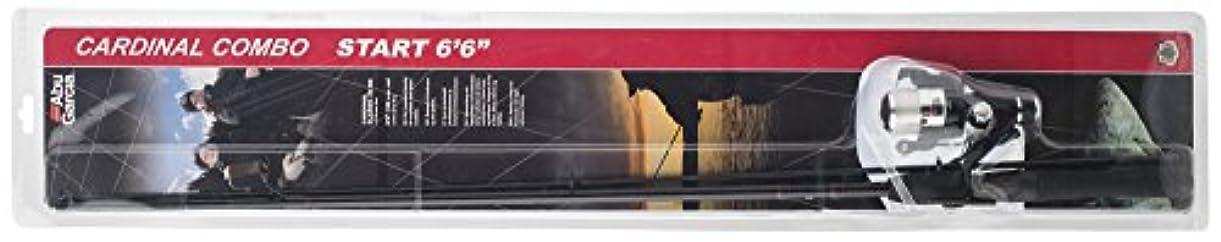 れんが広大な解釈Abu Garciaカーディナルスタート2ピースロッド、クラシック30リアドラッグフィッシングリール - ブラック、6.6 ft