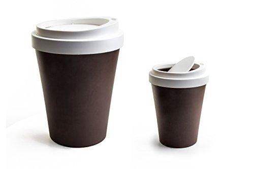 QUALY フタ付きゴミ箱 ミニ コーヒービン ブラウン 5217042BR