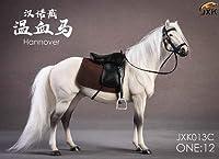 KK店 1/12 フィギュア 素体 ウマ 馬 ドイツ ハノーヴァー 競走馬 Hannover 馬具付 置物 JXK013C