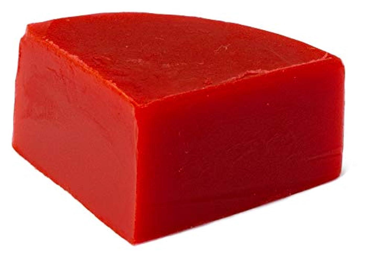 バイソン納税者リールグリセリン クリアソープ (MPソープ) 色チップ 赤 25g