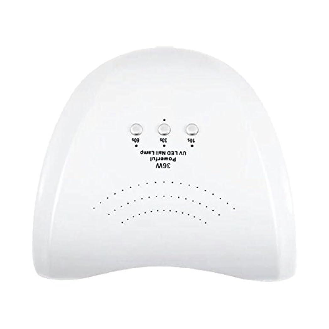 洗剤ロードされたプラスチックLa Curie 36W LED&UVネイルライト CCFL不使用 自動センサー ジェルネイル レジン 6ヶ月保証&日本語説明書&プロネイリスト監修ネイルレシピ付き 全9色 (ホワイト) LaCurie004