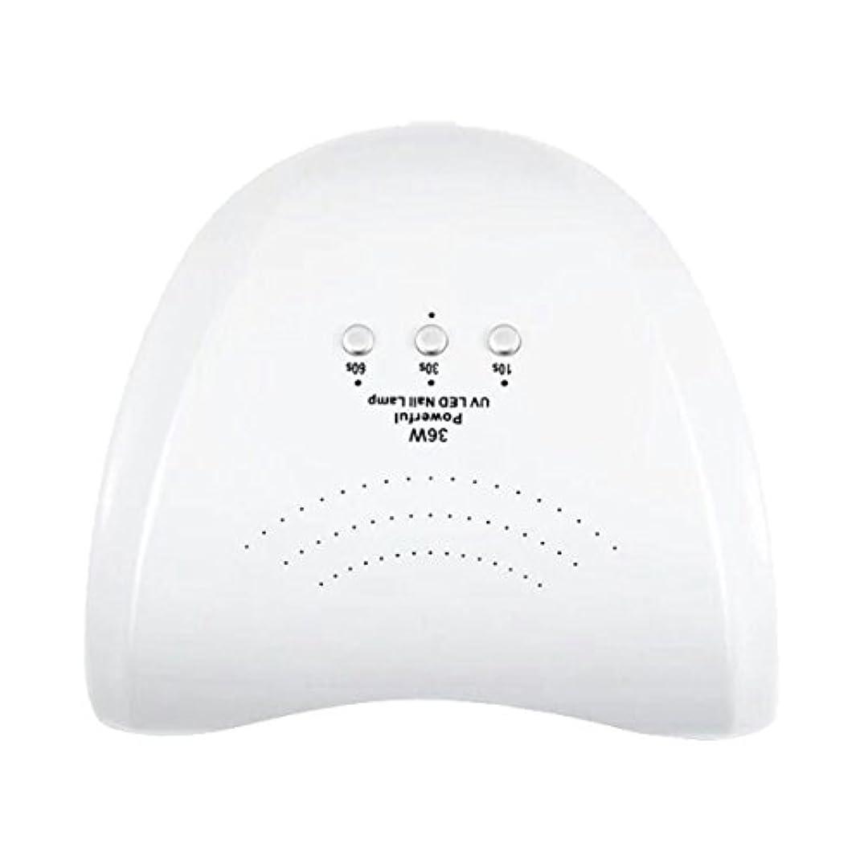 あなたは青闇La Curie 36W LED&UVネイルライト CCFL不使用 自動センサー ジェルネイル レジン 6ヶ月保証&日本語説明書&プロネイリスト監修ネイルレシピ付き 全9色 (ホワイト) LaCurie004