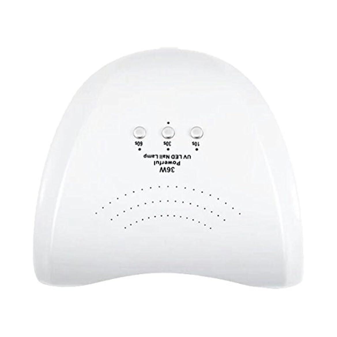 ポーチスタック以前はLa Curie 36W LED&UVネイルライト CCFL不使用 自動センサー ジェルネイル レジン 6ヶ月保証&日本語説明書&プロネイリスト監修ネイルレシピ付き 全9色 (ホワイト) LaCurie004