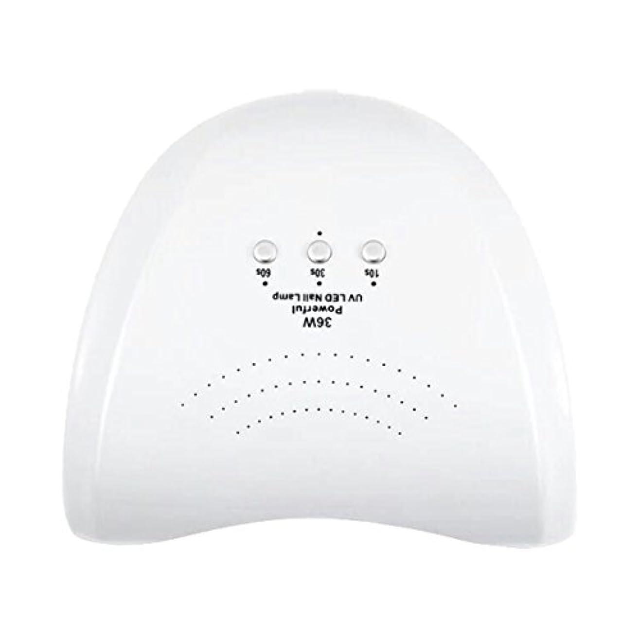 La Curie 36W LED&UVネイルライト CCFL不使用 自動センサー ジェルネイル レジン 6ヶ月保証&日本語説明書&プロネイリスト監修ネイルレシピ付き 全9色 (ホワイト) LaCurie004