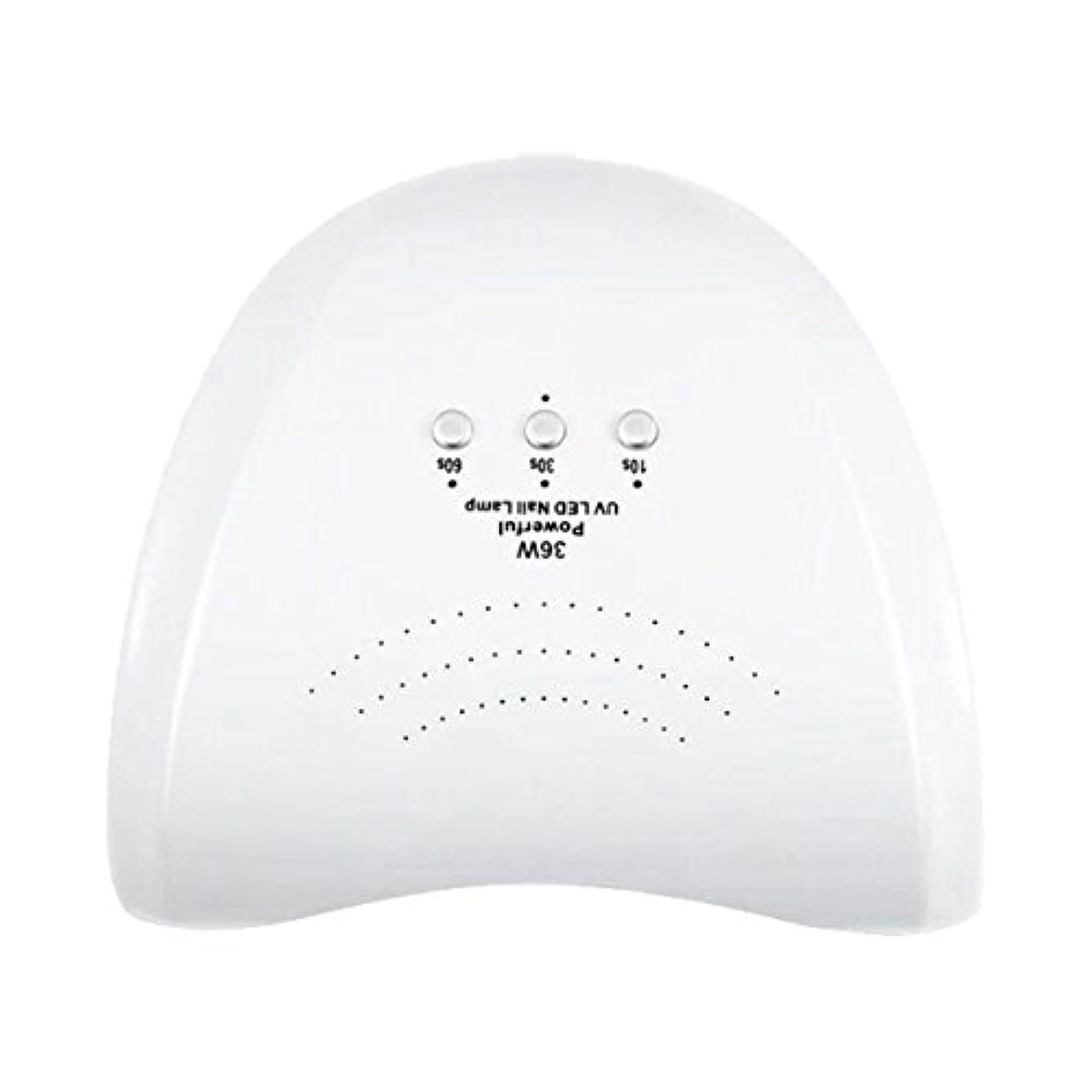 炎上不当アナロジーLa Curie 36W LED&UVネイルライト CCFL不使用 自動センサー ジェルネイル レジン 6ヶ月保証&日本語説明書&プロネイリスト監修ネイルレシピ付き 全9色 (ホワイト) LaCurie004
