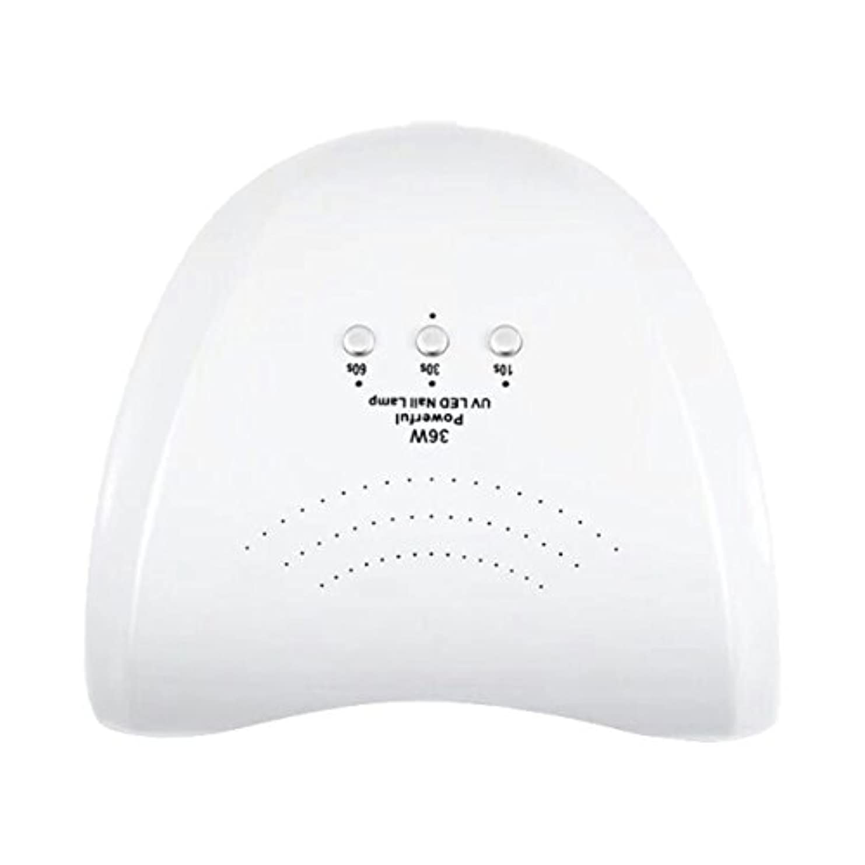 プレゼントただ強いLa Curie 36W LED&UVネイルライト CCFL不使用 自動センサー ジェルネイル レジン 6ヶ月保証&日本語説明書&プロネイリスト監修ネイルレシピ付き 全9色 (ホワイト) LaCurie004