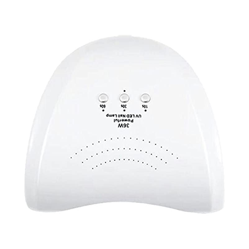 モスク船乗りパパLa Curie 36W LED&UVネイルライト CCFL不使用 自動センサー ジェルネイル レジン 6ヶ月保証&日本語説明書&プロネイリスト監修ネイルレシピ付き 全9色 (ホワイト) LaCurie004
