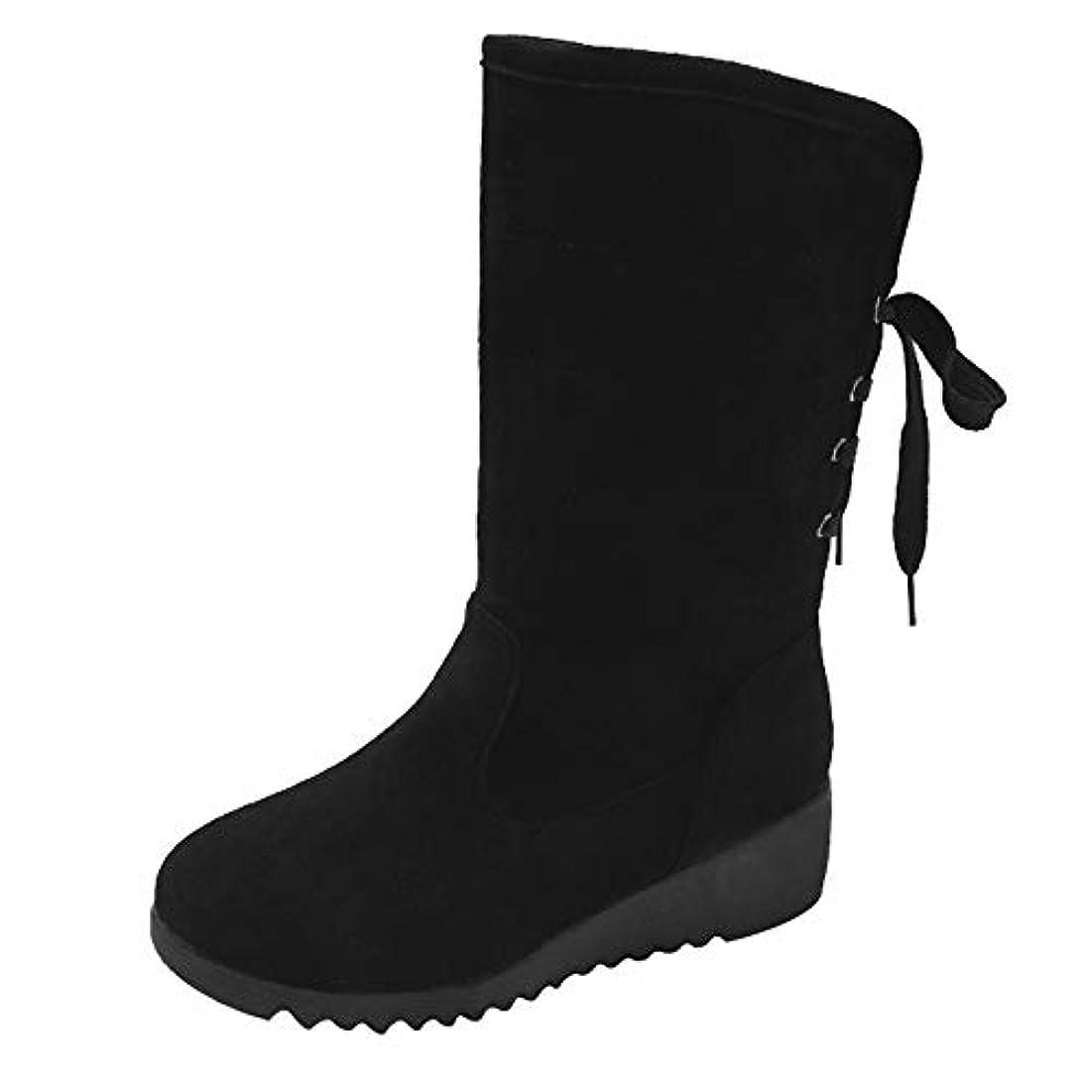 涙が出る祈り相談[レディース] スノーブーツ スノーシューズ 防水 冬用 カジュアル 綿靴 雪靴 防寒 防滑 保暖 ブーツ [春の屋] 女性スエードブーツウェッジミドルチューブブーツカジュアルウォームシューズスノーブーツ