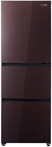 ハイセンス 冷凍冷蔵庫(幅55cm) 282L 自動霜取機能付き 3ドア 右開き ダークブラウン HR-G2801BR