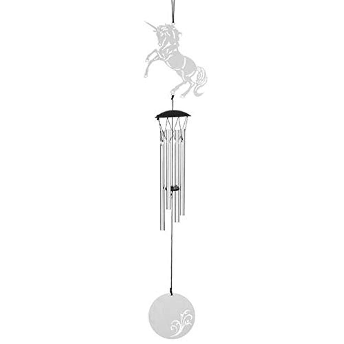 ビル変装感謝Aishanghuayi 風チャイム、メタルクリエイティブ4チューブ風の鐘、シルバー、47.5CMについて全長,ファッションオーナメント (Color : B)