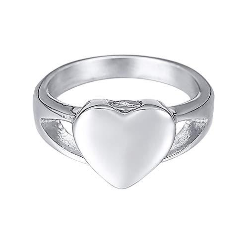 [ホーアムアイ]HooAMI 遺骨指輪 メモリアルリング ステンレス レディース 指輪 ハート 手元供養 遺灰 納骨ジュエリー 日本サイズ16.5号