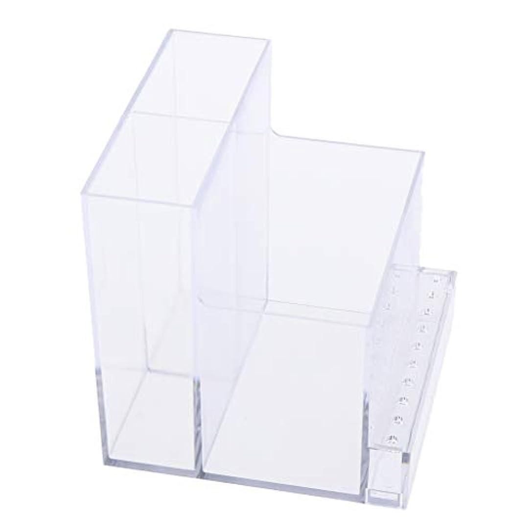 強大な申し立てられた鏡ネイルドリルマシンホルダー アクリル製 収納ホルダー ボックス プロ ネイルサロン 2色選べ - クリア