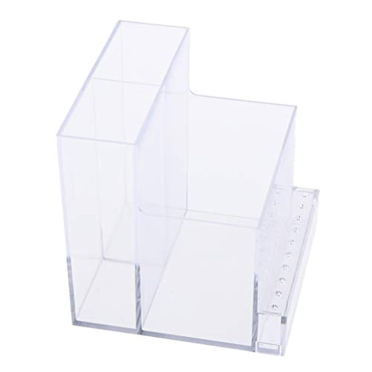 溶かす故意のほめるネイルドリルマシンホルダー アクリル製 収納ホルダー ボックス プロ ネイルサロン 2色選べ - クリア