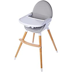 Childcare Pod Timber Highchair, Natural