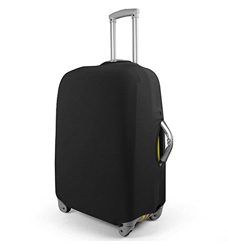 Update ストレッチ 伸縮素材 スーツケースをキズから守る 保護カバー (black(20インチ)S)