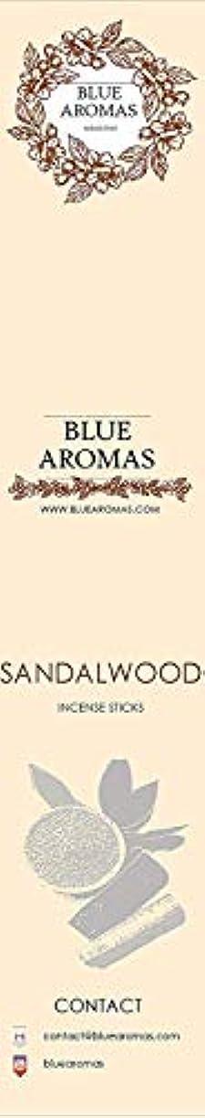 実り多い剛性報酬のBlue Aromas Sandalwood Incense Sticks Agarbatti |Pack of 8, 10 Sticks in Each Pack Incense | Export Quality