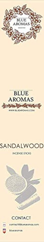 タバコ古くなったスカートBlue Aromas Sandalwood Incense Sticks Agarbatti  Pack of 8, 10 Sticks in Each Pack Incense   Export Quality