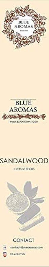 チョップ帝国主義形成Blue Aromas Sandalwood Incense Sticks Agarbatti |Pack of 8, 10 Sticks in Each Pack Incense | Export Quality