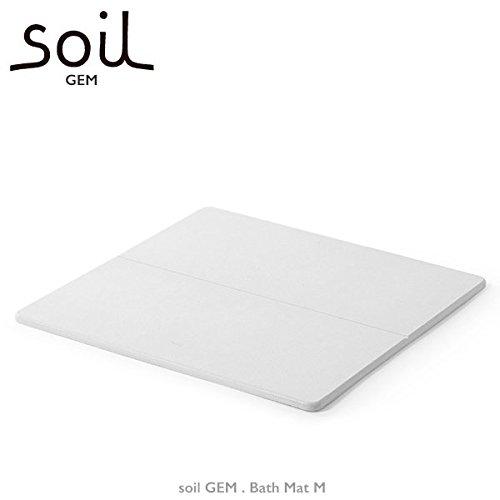 soil GEM ひる石バスマット [ Mサイズ ] 珪藻土バスマット