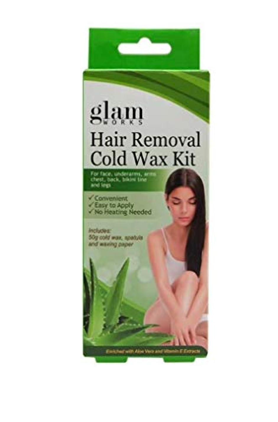 極めて補充適性脱毛用 コールド ワックス キット アロエ & ビタミンE 50g / Hair Removal Cold Wax Kit Aloe & Vit. E 50g