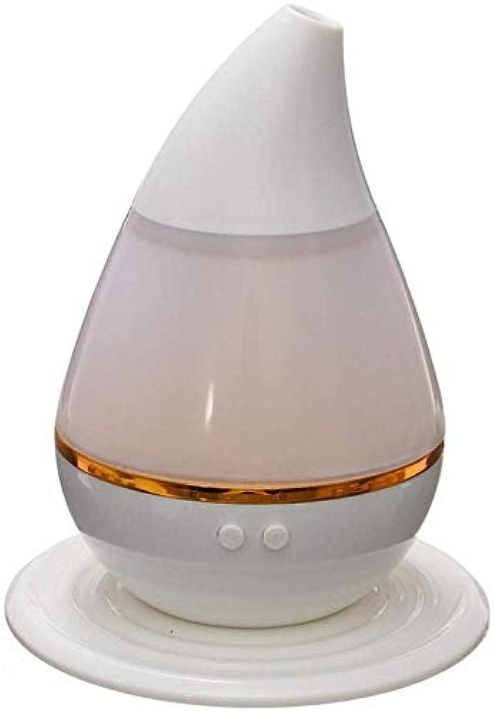 コーラス楽観的矢印SOTCE アロマディフューザー加湿器超音波霧化技術が内蔵水位センサー快適な雰囲気満足のいく解決策 (Color : White)