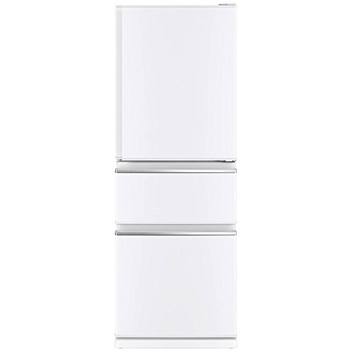 三菱 330L 3ドア冷蔵庫(パールホワイト)【右開き】MIT...