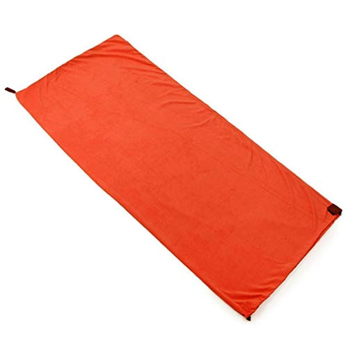 爆弾近代化する憂慮すべきACAMPTAR 片面フリース寝袋 ポータブルアウトドアキャンプ寝袋 超軽量寝袋 ライナー寝袋 キャンプ(オレンジ)