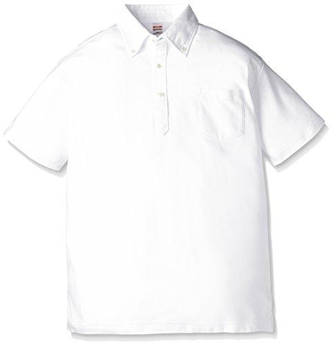 (ユナイテッドアスレ)UnitedAthle 5.3オンス ドライカノコ ユーティリティー ポロシャツ(ボタンダウン)(ポケット付) 505101 [メンズ] 001 ホワイト S