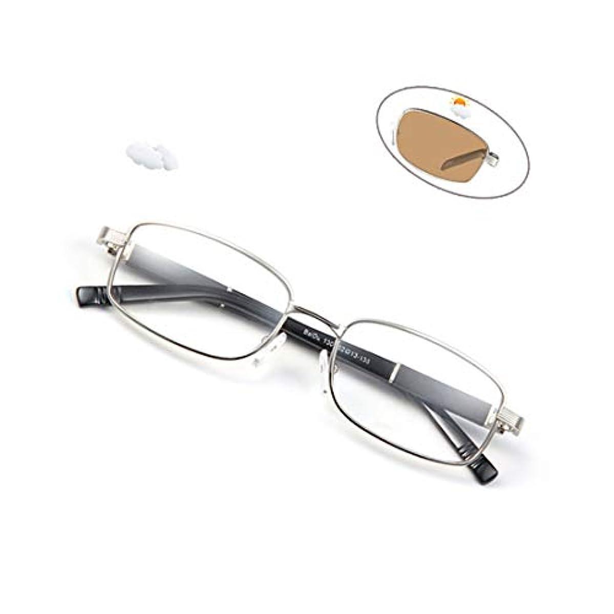 依存受信機単なるインテリジェント老眼鏡屋外色変化放射線防護、紫外線保護、耐久性のあるステンレス鋼ヒンジ