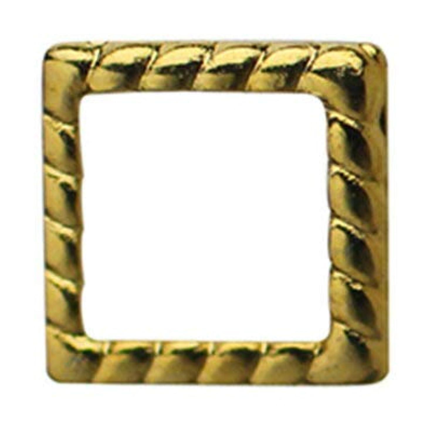 過敏な促進するパリティSHAREYDVA ロープフレーム スクエア 中抜き 3mm (外寸4.5mm) 50P ゴールド