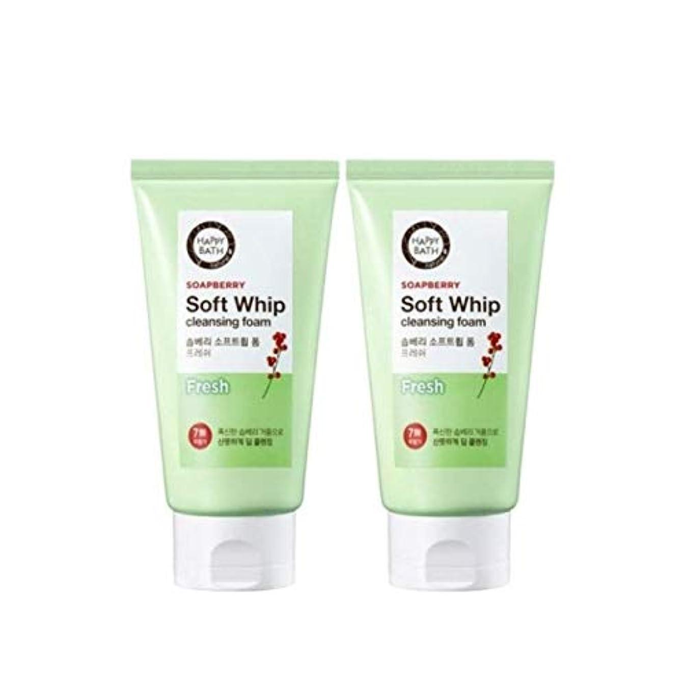 不条理クランプエレクトロニック(1+1)ハッピーバスソープベリーソフトホイップクレンジングフォームフレッシュ Happy Bath Soapberry soft whip foam fresh 韓国の人気商品